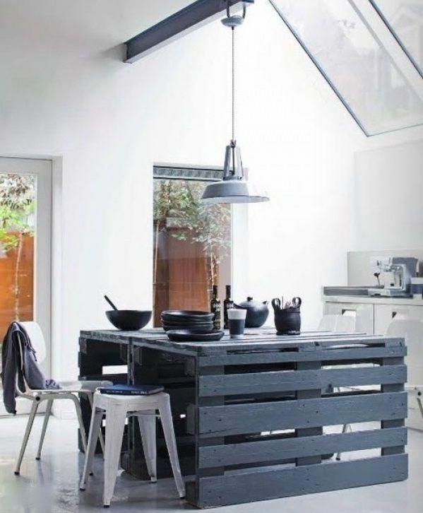 ... isola cucina con i pallet isola cucina fai da te con pallet idea n 1