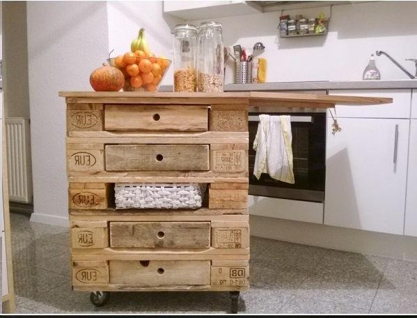 Isola cucina con i pallet 15 idee a cui ispirarsi for Mobili cucina fai da te