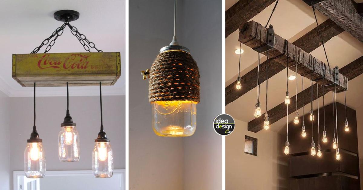 lampadari fai da te molto originali ecco 20 idee