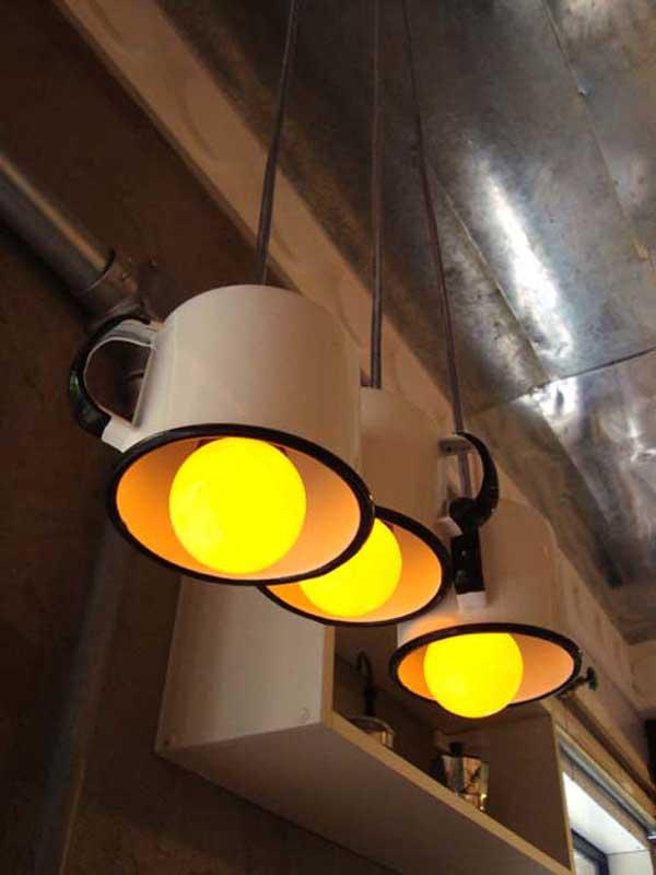 idea lampadari : Creare Lampadario con materiale di riciclo ? Idea n? 16