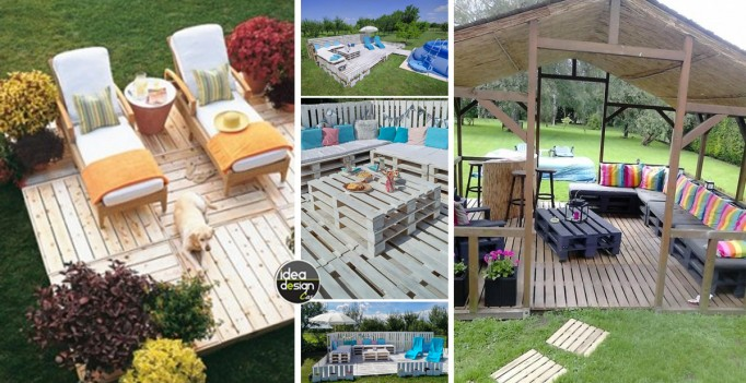 Pavimento esterno con i pallet 20 idee da cui ispirarsi - Pavimenti da giardino economici ...