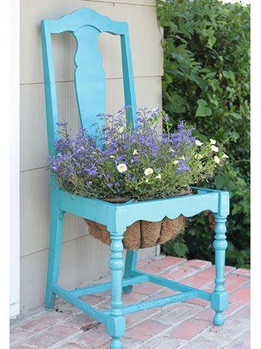 Vecchia sedia fiorita! 20 idee a cui ispirarsi...
