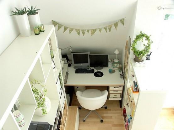 Uffici piccoli ma funzionali 33 idee lasciatevi ispirare - Arredare ufficio ikea ...