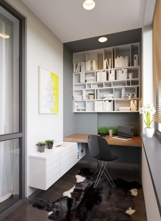 Uffici piccoli ma funzionali 33 idee lasciatevi ispirare - Ufficio in casa ...
