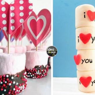 Composizioni marshmallow San Valentino