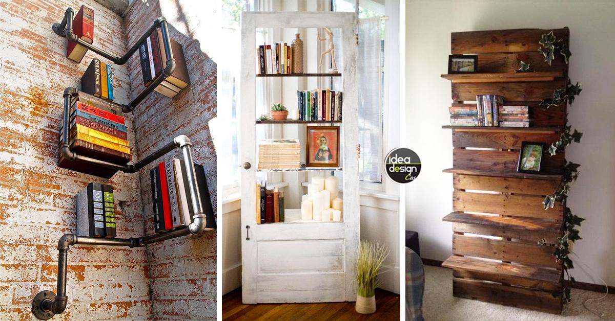 Piante Da Arredo Interno : Libreria originale con materiale di riciclo idee