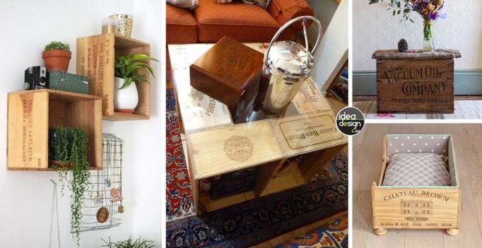 Riciclare le casse di vino e arredare casa 20 idee for Idee creative per arredare