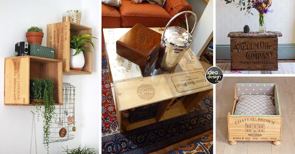 Riciclare le casse di vino e arredare casa 20 idee - Riciclo creativo casa ...