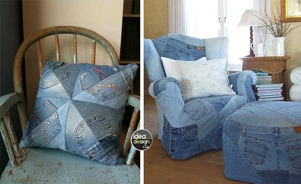 Riciclare jeans e arredare casa 20 idee creative for Riciclare per arredare