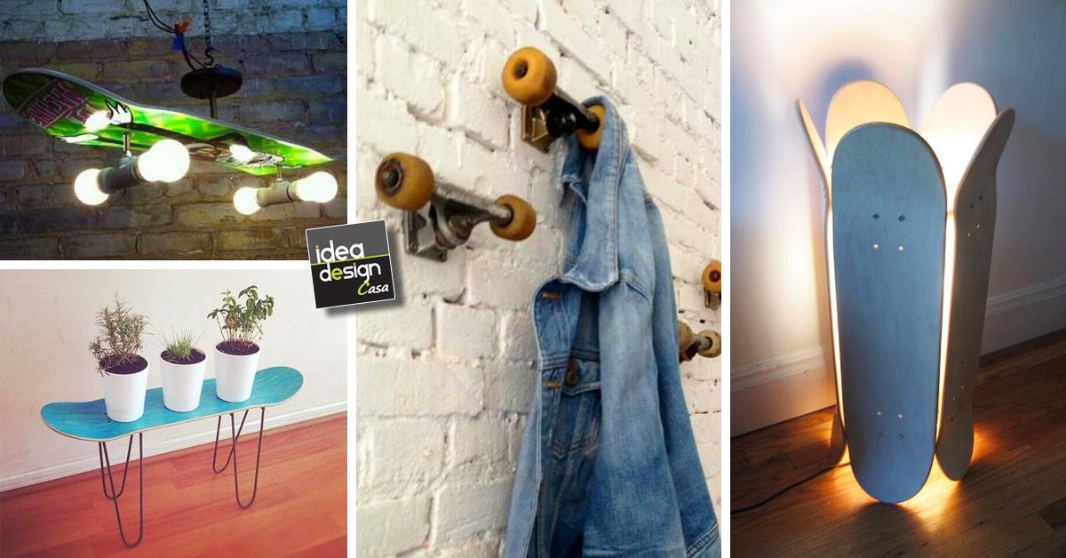 Riciclo creativo skateboard 20 idee originali per la casa for Stili per la casa