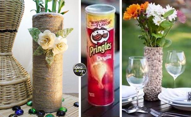 Riciclo creativo tubi delle patatine ecco 26 idee - Riciclo creativo casa ...