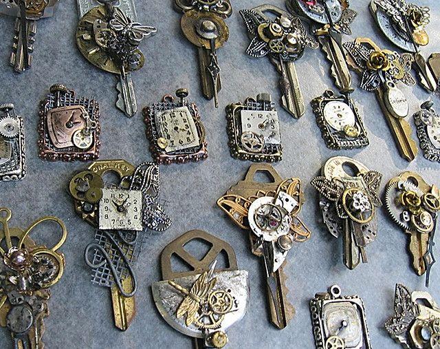 riciclo creativo vecchie chiavi 10