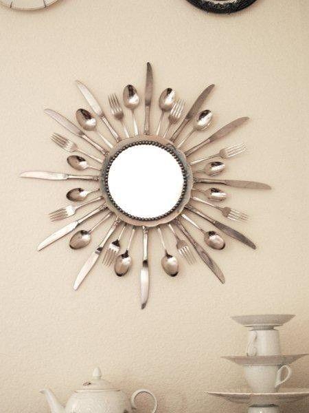 Specchio fai da te originale con materiale riciclato! 20 idee a ...