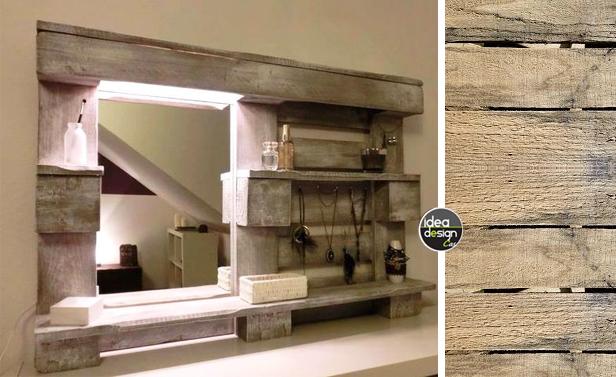 Specchio fai da te originale con materiale riciclato 20 for Arredamento originale casa