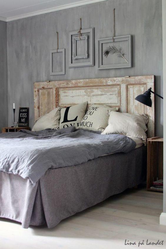 la testata del letto con materiale di riciclo testate letto fai da te ...