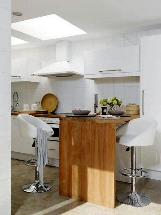 travi legno cucina bianca 16
