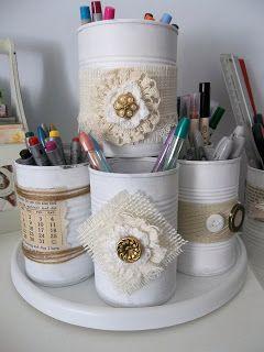 Barattoli di latta shabby chic 20 idee fai da te per - Come decorare un barattolo ...