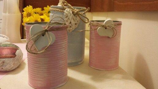 Barattoli di latta shabby chic! 20 idee fai da te per decorare casa…