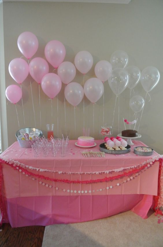 Decorare casa con i palloncini per un compleanno 20 idee for Baby girl birthday decoration pictures