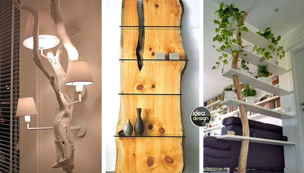 Arredi creativi con i tronchi 20 idee stupende for Idee arredamento soggiorno fai da te