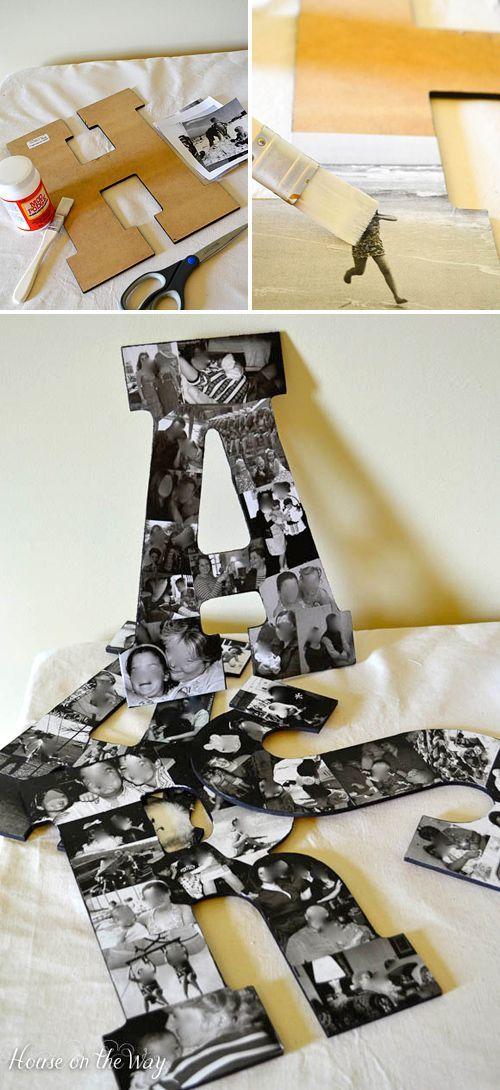 decorare casa lettere in cartone 1