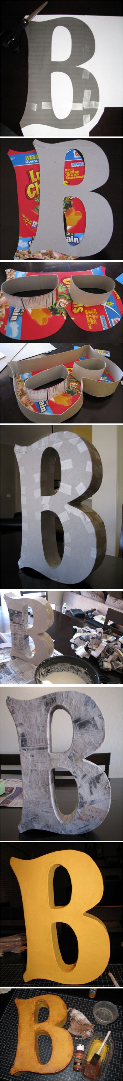 Lettere in cartone fai da te per decorare casa! 15 idee