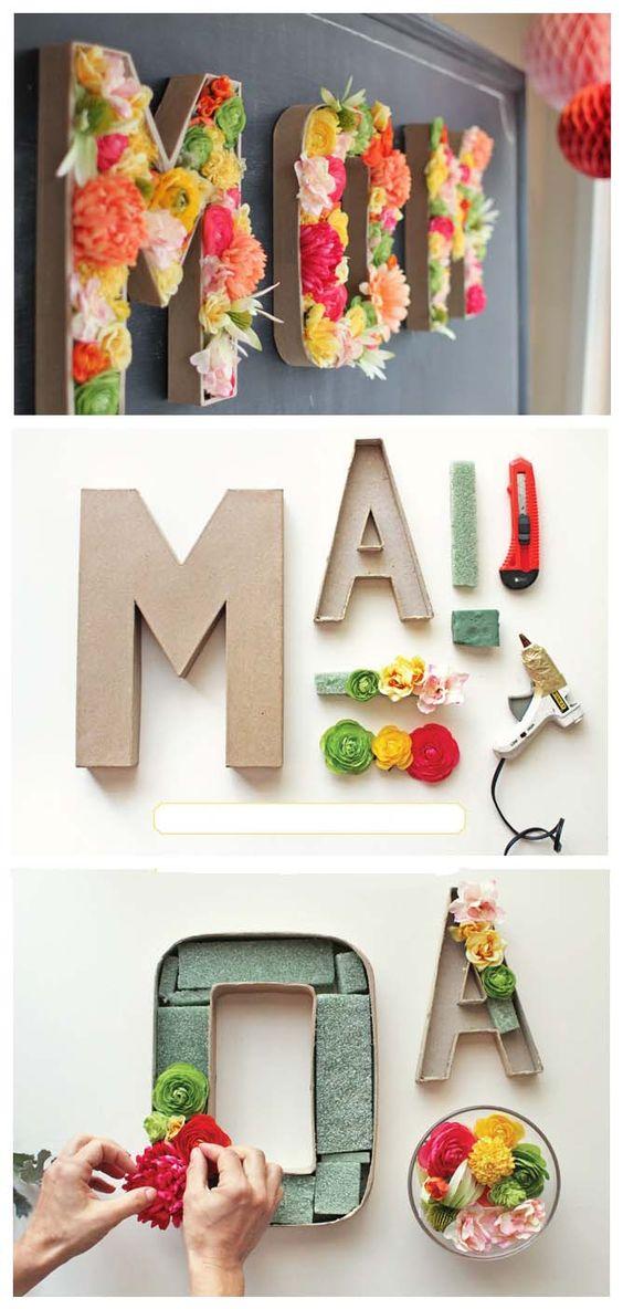 decorare casa lettere in cartone 13