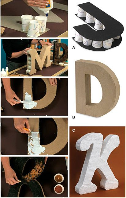 Letras de cart n diy para decorar la casa 15 ideas for Decorar casa 60 m