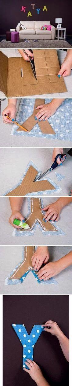 decorare casa lettere in cartone 8