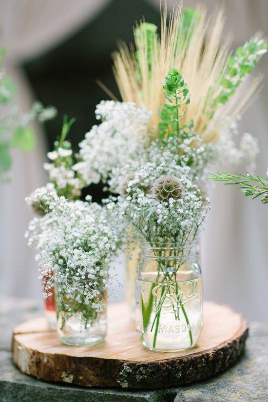 Vasetti di fiori creativi con barattoli di vetro
