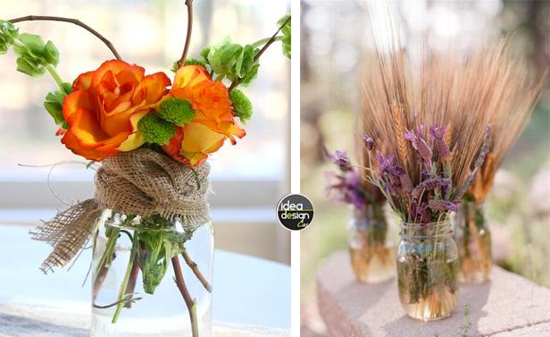Idee Bagno In Camera : Vasetti di fiori creativi con barattoli vetro riciclati