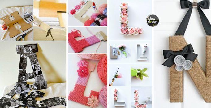 Lettere in cartone fai da te per decorare casa 15 idee for Oggetti fai da te per arredare casa