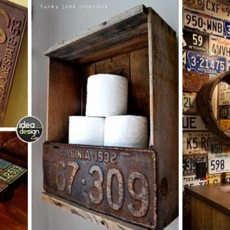 decorazione-con-vecchie-targhe-macchine1