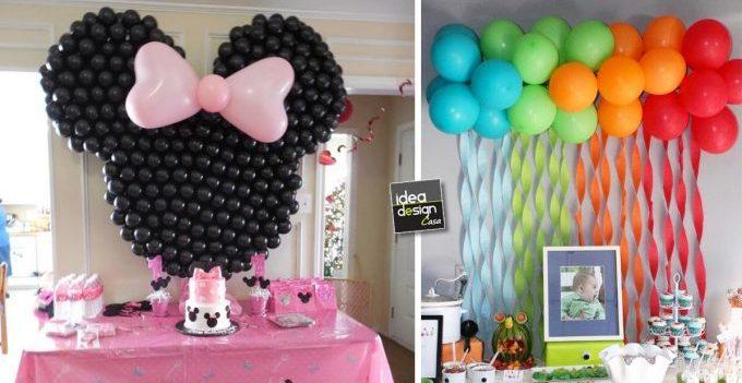 Famoso Decorare casa con i palloncini per un compleanno! 20 idee MF51