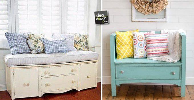 Trasformare un vecchio mobile in un bel divanetto 20 idee - Trasformare mobili vecchi ...