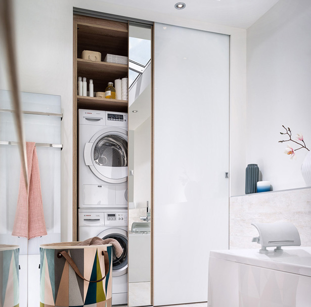Nascondere la lavatrice dentro casa 20 idee originali - Idee originali per casa ...