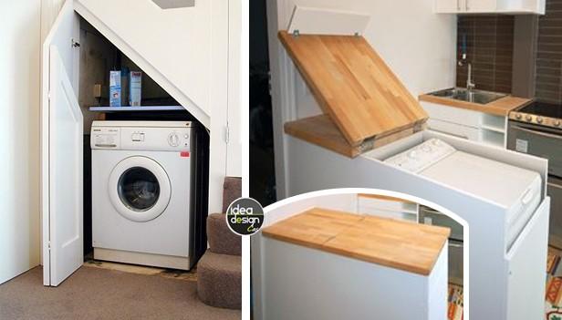 Nascondere la lavatrice dentro casa 20 idee originali - Alice la cucina lavatrice ...