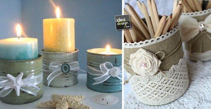Barattoli di latta shabby chic 20 idee fai da te per for Idee per decorare