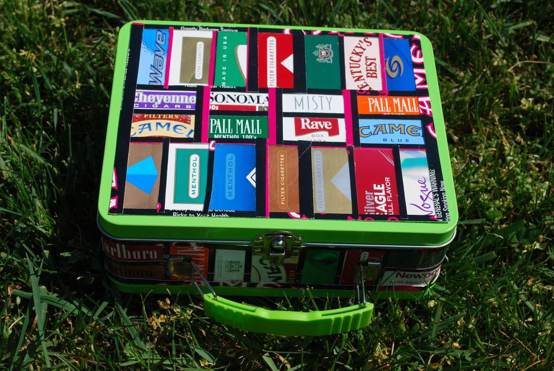 Riciclo creativo pacchetti di sigarette