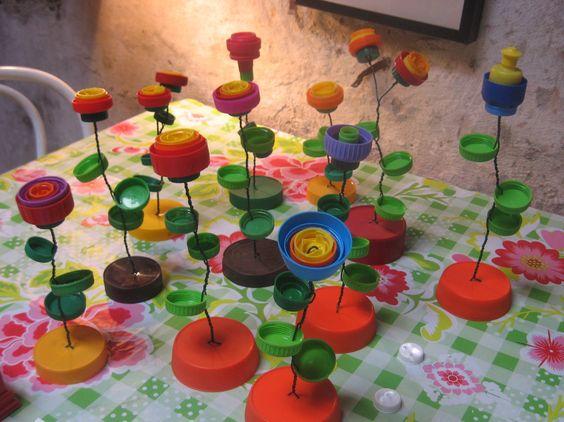 Super Riciclo creativo tappi di plastica! 20 idee a cui ispirarsi PB08