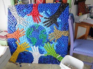 riciclare tappi di plastica idee 20