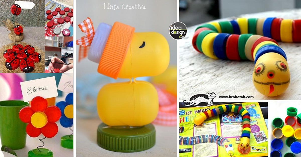 vendita online prezzo ragionevole bene Riciclo creativo tappi di plastica! 20 idee a cui ispirarsi...