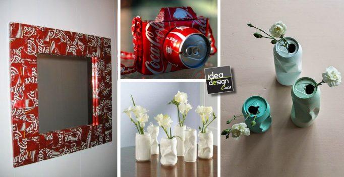 Riciclo creativo lattine delle bibite 20 idee da copiare - Riciclo creativo casa ...