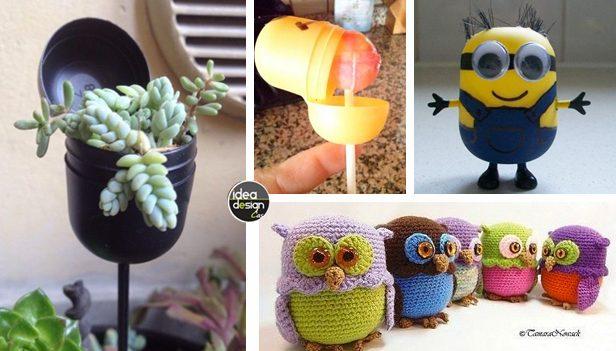 Riciclo creativo contenitori delle sorprese kinder 20 idee - Riciclo creativo casa ...