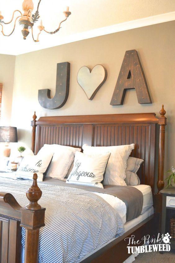 Scritte decorative in camera da letto! Ecco 20 idee...