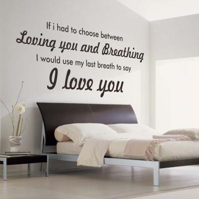 Scritte decorative in camera da letto ecco 20 idee - Camera da letto decorazioni murali ...