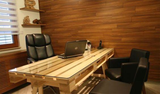 Costruire Un Ufficio.Scrivania Fai Da Te Con Pallet 20 Idee Creative Da Scoprire