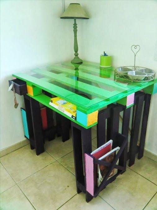 Diy-Schreibtisch Mit Paletten! 20 Kreative Ideen, Entdeckt Zu Werden