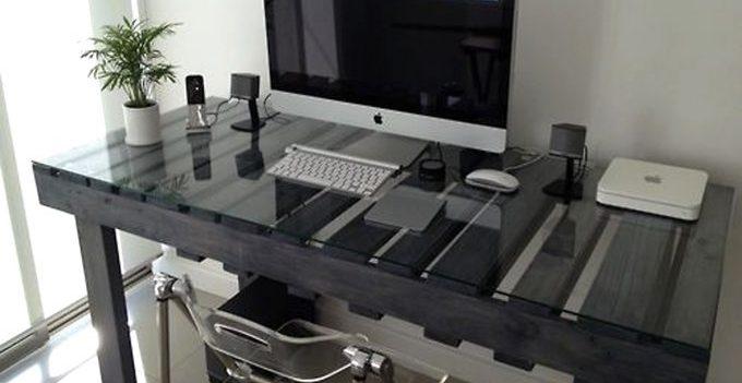 DIY Schreibtisch Mit Paletten! 20 Inspirierende Ideen.