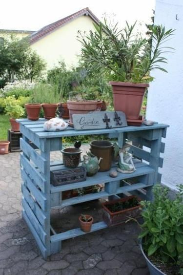 pallet furniture garden 11 - Garden Ideas With Pallets
